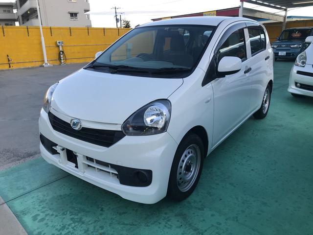 沖縄の中古車 ダイハツ ミライース 車両価格 57万円 リ済込 2014(平成26)年 0.9万km ホワイト