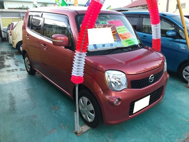 沖縄の中古車 日産 モコ 車両価格 64万円 リ済込 2012(平成24)年 3.3万km ローズピンク