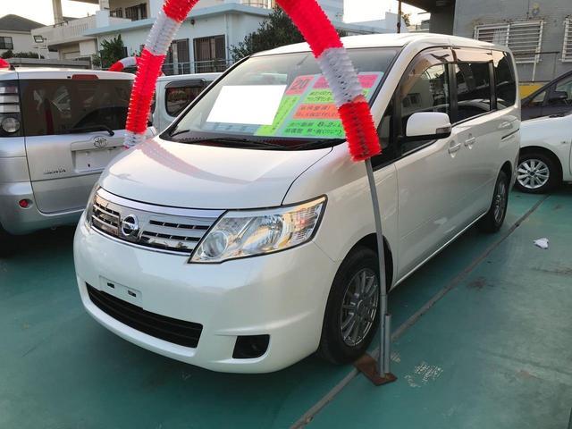 沖縄の中古車 日産 セレナ 車両価格 43万円 リ済込 2008(平成20)年 8.2万km パールホワイト