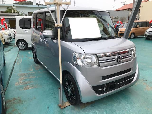 沖縄の中古車 ホンダ N-BOX 車両価格 108万円 リ済込 2015(平成27)年 4.5万km シルバー