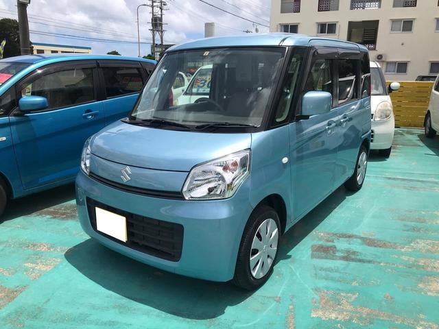 沖縄の中古車 スズキ スペーシア 車両価格 81万円 リ済込 2014(平成26)年 6.5万km ライトブルー