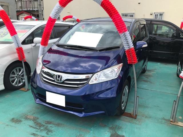 沖縄の中古車 ホンダ フリード 車両価格 78万円 リ済込 2012(平成24)年 6.6万km ダークブルー