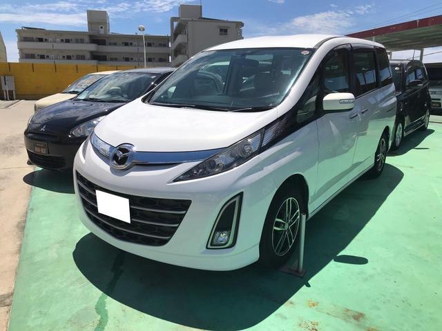 沖縄の中古車 マツダ ビアンテ 車両価格 53万円 リ済込 2010(平成22)年 9.7万km パールホワイト