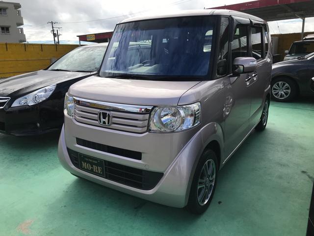 沖縄の中古車 ホンダ N-BOX 車両価格 105万円 リ済込 2013(平成25)年 3.3万km シャンパンピンク