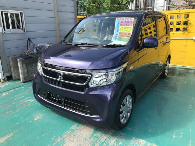 沖縄の中古車 ホンダ N-WGN 車両価格 97万円 リ済込 2015(平成27)年 4.0万km パープル