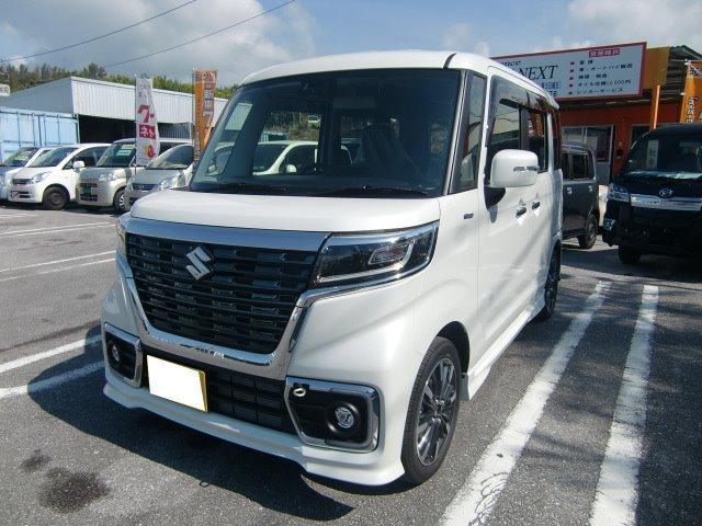 沖縄の中古車 スズキ スペーシアカスタム 車両価格 171万円 リ未 2019年 4km パールホワイト