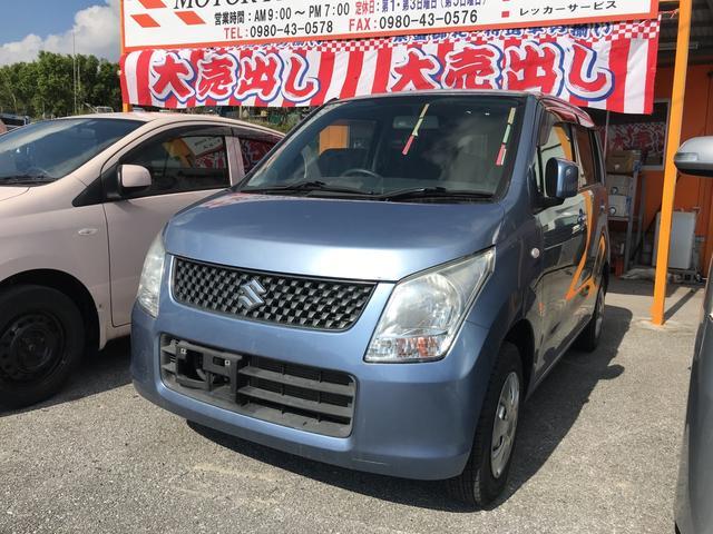 沖縄の中古車 スズキ ワゴンR 車両価格 29万円 リ済込 2008(平成20)年 11.7万km ライトブルー