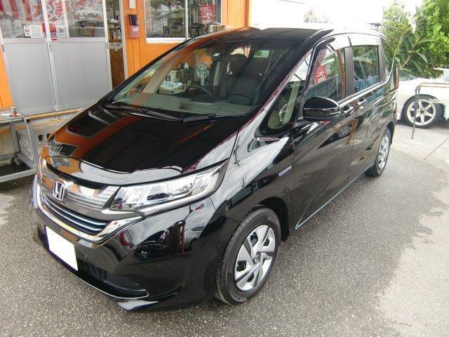 沖縄の中古車 ホンダ フリードハイブリッド 車両価格 271万円 リ済込 新車  ブラック