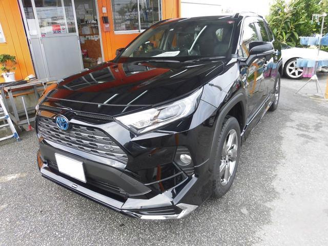 沖縄県の中古車ならRAV4 ハイブリッドG ハイブリッド車 モデリスタフルエアロ 新車 オプション付き