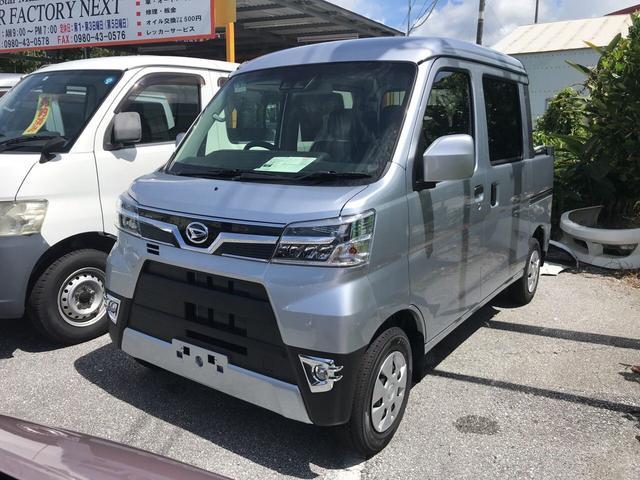 沖縄の中古車 ダイハツ ハイゼットカーゴ 車両価格 150万円 リ済込 2019年 6km シルバー