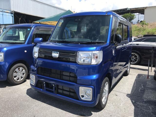 沖縄の中古車 ダイハツ ウェイク 車両価格 162万円 リ済込 2019年 7km ダークブルー