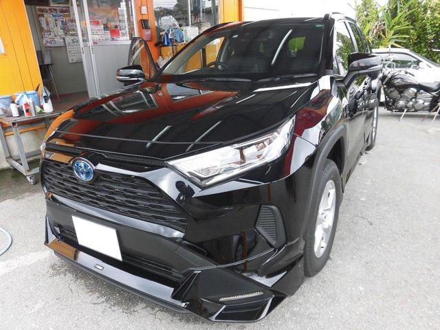 沖縄県の中古車ならRAV4 ハイブリッドX ハイブリッド車 新車 TRDエアロ 衝突軽減装置 ハーフレザーシート