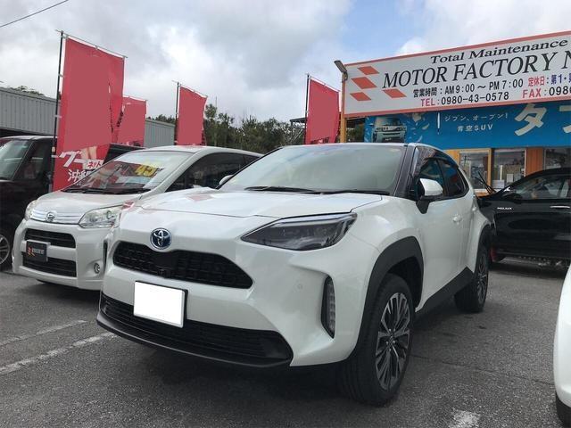 沖縄の中古車 トヨタ ヤリスクロス 車両価格 258万円 リ済込 2021(令和3)年 7km パール