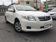 沖縄の中古車 トヨタ カローラアクシオ 車両価格 39万円 リ済別 平成20年 2.4万K ホワイト