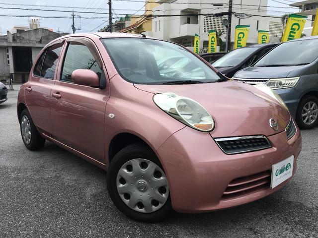 沖縄の中古車 日産 マーチ 車両価格 33万円 リ済別 平成22年 7.6万km ピンクM