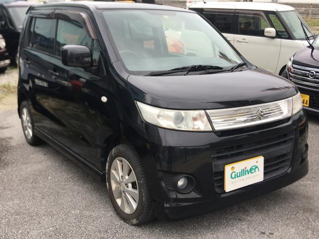 沖縄の中古車 スズキ ワゴンRスティングレー 車両価格 54万円 リ済別 平成24年 10.8万km ブラックM