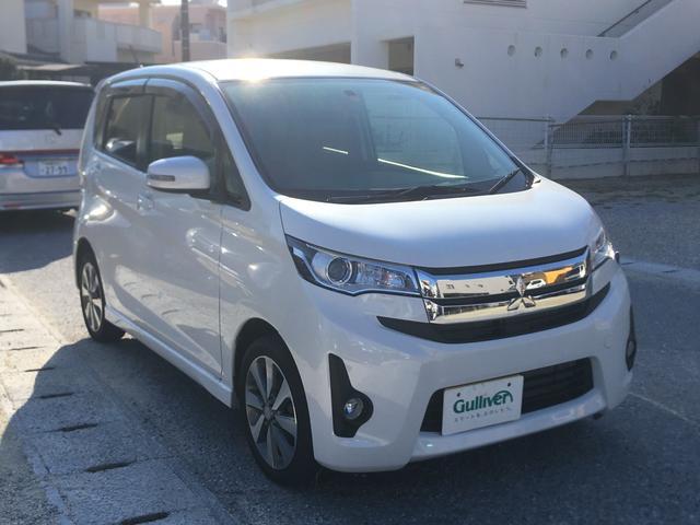 沖縄の中古車 三菱 eKカスタム 車両価格 88万円 リ済別 平成26年 2.8万km パール