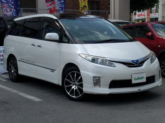 沖縄県の中古車ならエスティマハイブリッド G Wサンルーフ 両側パワスラドア  モデリスタエアロ