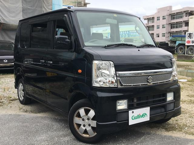 沖縄の中古車 スズキ エブリイワゴン 車両価格 49万円 リ済別 2008(平成20)年 15.1万km ブラック