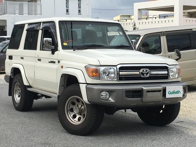 沖縄県那覇市の中古車ならランドクルーザー70 ワンオーナー 社外メモリナビ ライトレベライザ ETC
