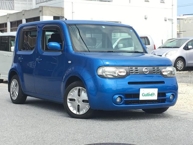 沖縄の中古車 日産 キューブ 車両価格 54万円 リ済別 2009(平成21)年 7.7万km パシフィックブルーPM