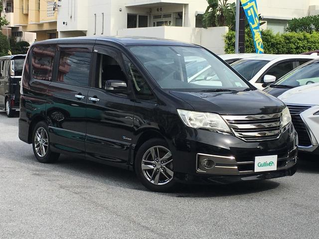 沖縄県の中古車ならセレナ ライダー ブラックライン S-ハイブリッド アルパインナビ