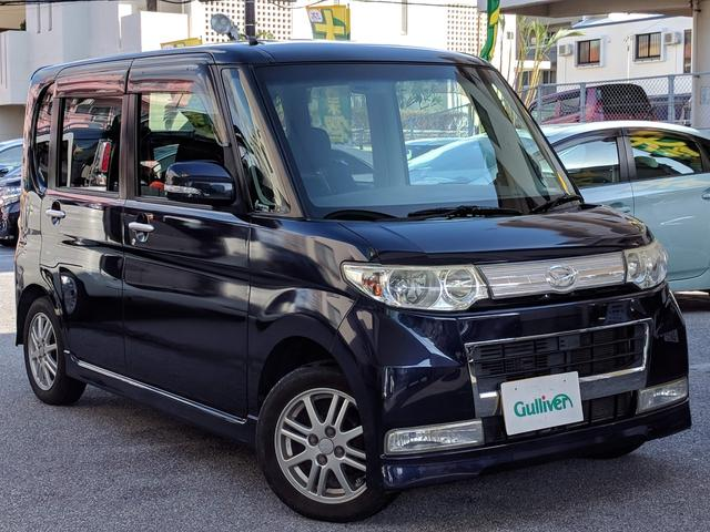 沖縄の中古車 ダイハツ タント 車両価格 49万円 リ済別 2009(平成21)年 9.0万km 紺