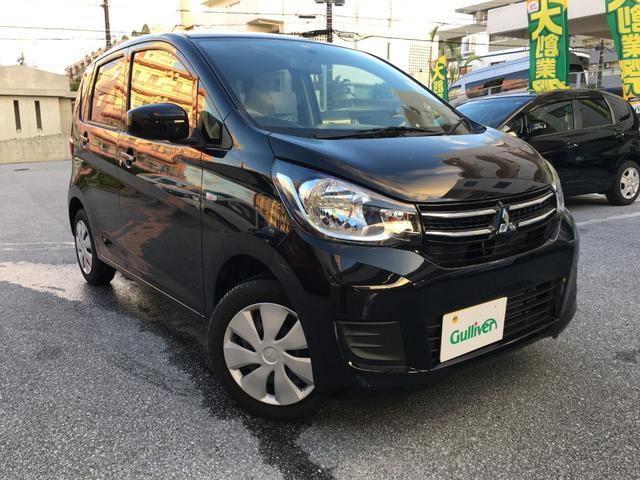 沖縄の中古車 三菱 eKワゴン 車両価格 89万円 リ済別 2019(平成31)年 1.6万km ブラックマイカ