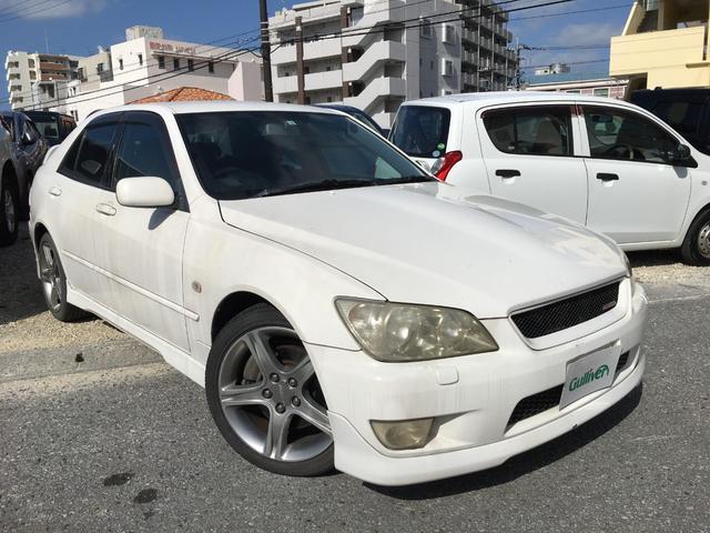 沖縄県の中古車ならアルテッツァ RS200 Lエディション 電動格納ミラー HID ハーフレザーシート パワーシート CD MD キーレスエントリー 衝突安全ボディ