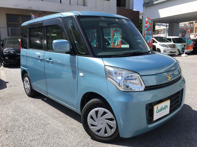 沖縄の中古車 スズキ スペーシア 車両価格 64万円 リ済別 2013(平成25)年 7.0万km フィズブルーパールメタリック