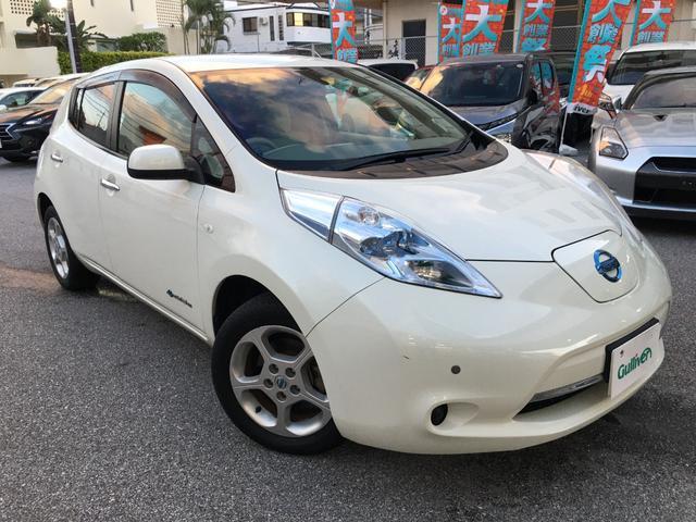 沖縄の中古車 日産 リーフ 車両価格 48万円 リ済別 2011(平成23)年 10.2万km ホワイトパール