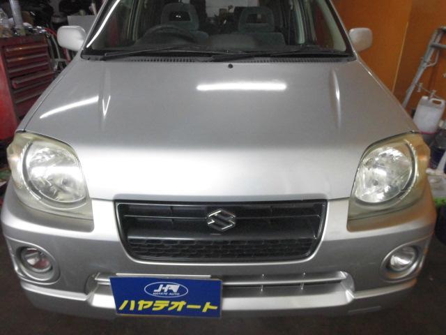 沖縄の中古車 スズキ Kei 車両価格 4.5万円 リ済込 2002(平成14)年 18.8万km ライトグレー