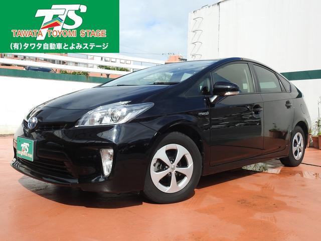 沖縄の中古車 トヨタ プリウス 車両価格 133万円 リ済込 平成26年 8.0万km ブラック