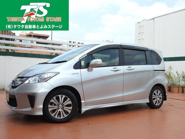 沖縄の中古車 ホンダ フリードハイブリッド 車両価格 114万円 リ済込 平成24年 7.4万km シルバーM