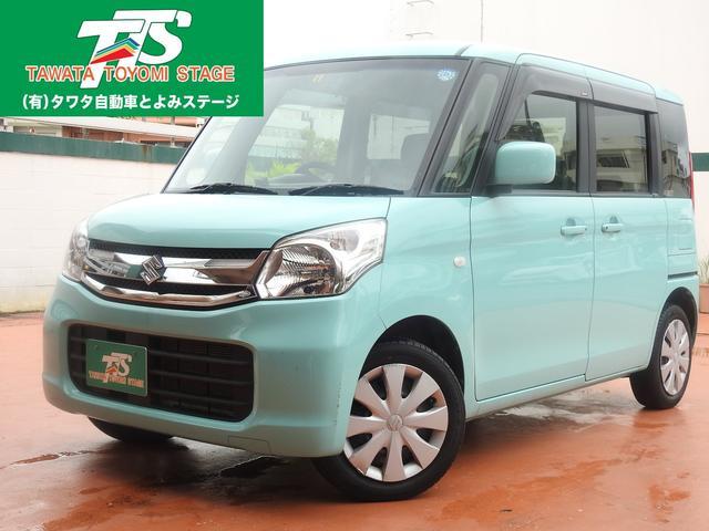 沖縄の中古車 スズキ スペーシア 車両価格 109万円 リ済込 2016(平成28)年 2.2万km Lグリーン