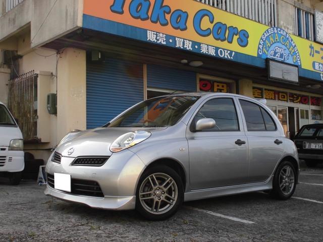 沖縄の中古車 日産 マーチ 車両価格 39万円 リ済込 2009(平成21)年 8.1万km シルバー