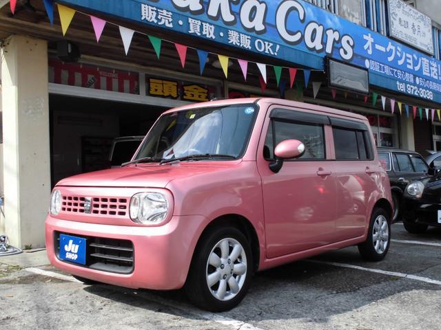 沖縄の中古車 スズキ アルトラパン 車両価格 33万円 リ済込 2013(平成25)年 10.3万km ピンクM