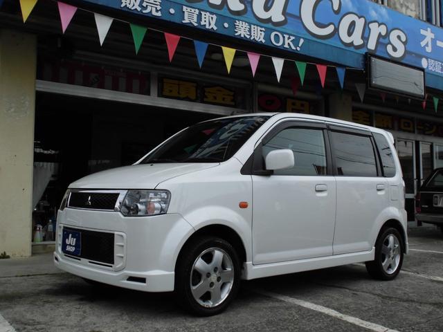 沖縄県の中古車ならeKスポーツ R turbo ナビ エアロ アルミ ABS