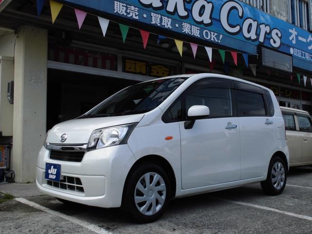 沖縄県の中古車ならムーヴ X キーフリー 電動ミラー オートエアコン レザーハンドル CD CVT ABS 本土中古車