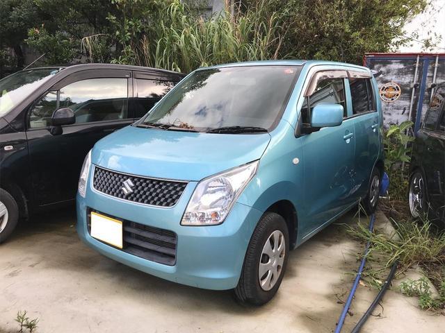 沖縄の中古車 スズキ ワゴンR 車両価格 37万円 リ済込 2012(平成24)年 6.1万km ライトブルー
