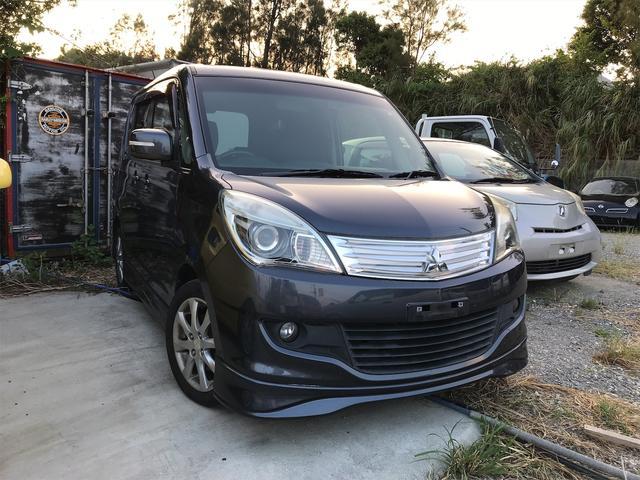 沖縄の中古車 三菱 デリカD:2 車両価格 33万円 リ済込 2013(平成25)年 12.2万km ブラック