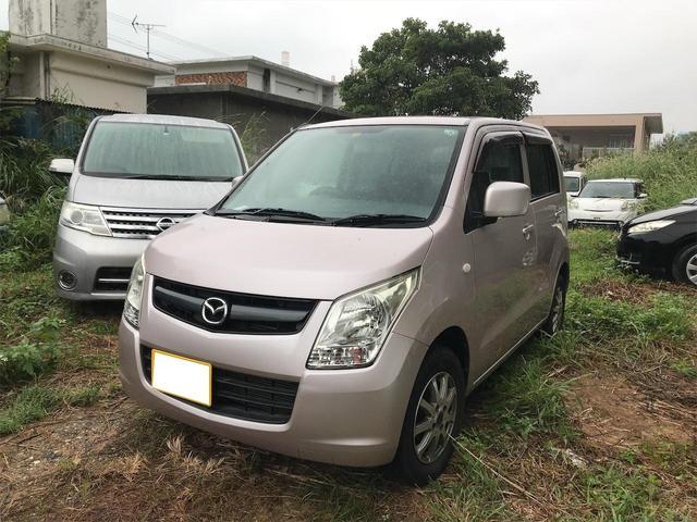 沖縄の中古車 マツダ AZワゴン 車両価格 25万円 リ済込 2008(平成20)年 6.5万km ピンク