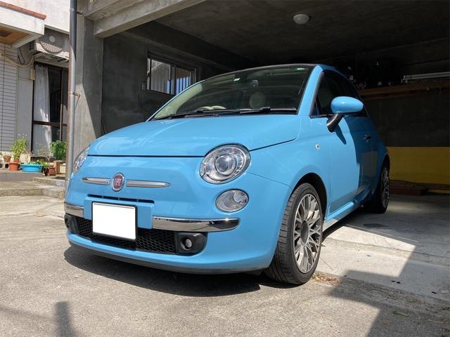 沖縄の中古車 フィアット 500 車両価格 99万円 リ済込 2012(平成24)年 2.9万km ライトブルー
