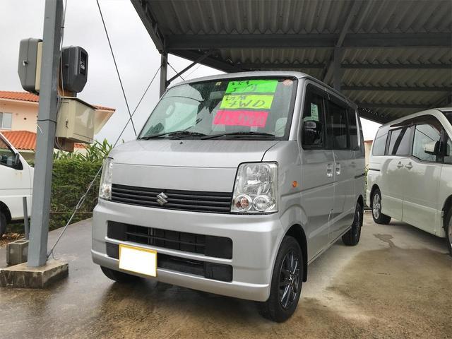 沖縄の中古車 スズキ エブリイワゴン 車両価格 55万円 リ済込 2007(平成19)年 8.5万km シルバー