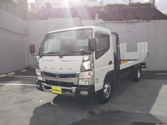 沖縄県の中古車ならキャンター 極東フラトップZERO積載車