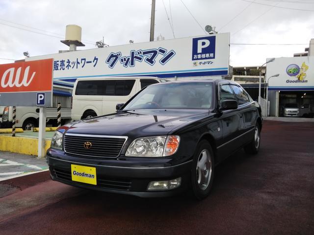沖縄の中古車 トヨタ セルシオ 車両価格 118万円 リ済別 1998(平成10)年 3.1万km ブラック