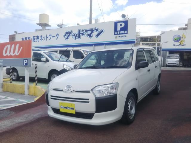 沖縄の中古車 トヨタ サクシードバン 車両価格 89万円 リ済別 2016(平成28)年 1.5万km ホワイト