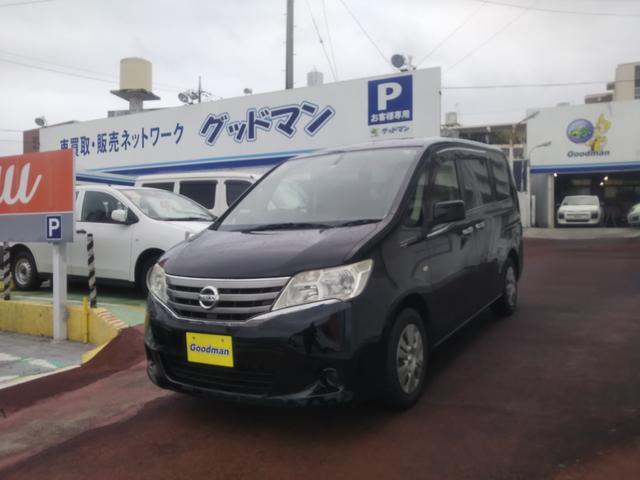 沖縄の中古車 日産 セレナ 車両価格 55万円 リ済別 2011(平成23)年 10.6万km ブラック