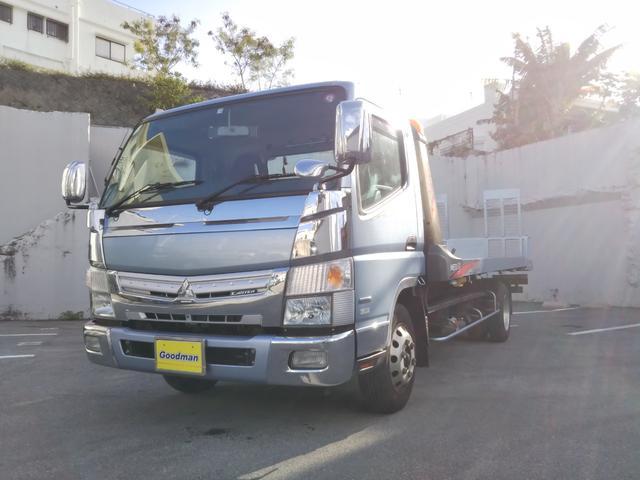 宜野湾市 グッドマン 三菱ふそう キャンター  カスタム積載車 ライトブルー 3.4万km 2015(平成27)年