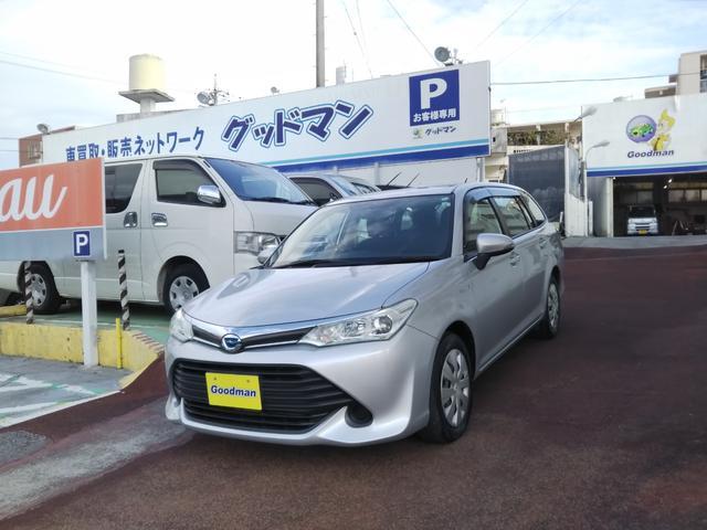 沖縄の中古車 トヨタ カローラフィールダー 車両価格 79万円 リ済別 2016(平成28)年 8.9万km シルバー